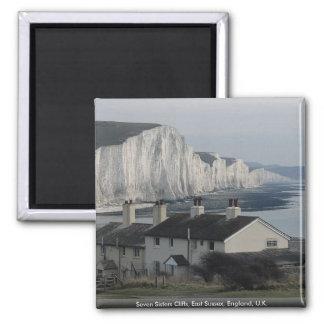 Seven Sisters Cliffs, East Sussex, England, U.K. Fridge Magnet