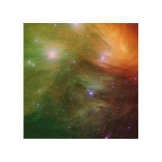 Seven Sisters Pleiades Stars Space Wood Canvas