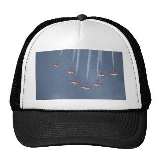 Seven Snowbirds Diving, Smoke Trailing Hats