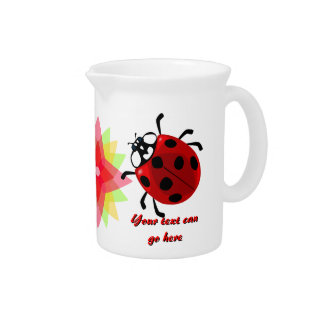 Seven-Spotted Ladybug Beverage Pitcher