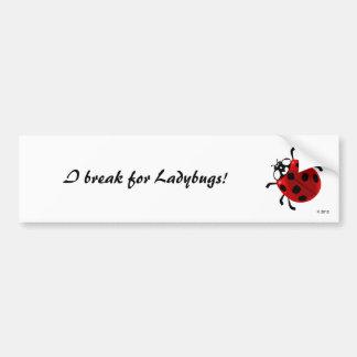 Seven-Spotted Ladybug Bumper Sticker