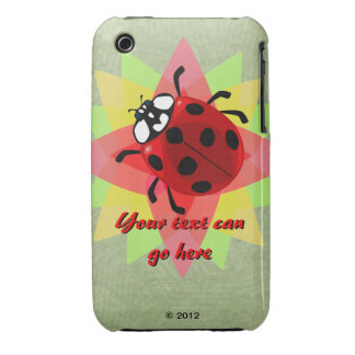 Seven-Spotted Ladybug Case-Mate iPhone 3 Case