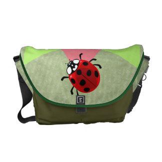 Seven-Spotted Ladybug Courier Bag