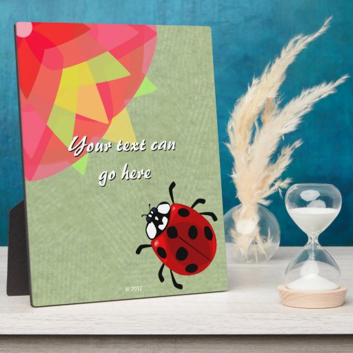 Seven-Spotted Ladybug Photo Plaque