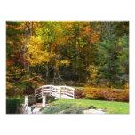 Seven Springs Fall Bridge I Autumn Landscape Photo
