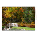 Seven Springs Fall Bridge I Autumn Landscape Photo Card