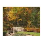 Seven Springs Fall Bridge I Autumn Landscape Photo Wood Wall Art
