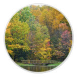 Seven Springs Fall Bridge II Autumn Landscape Ceramic Knob