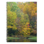 Seven Springs Fall Bridge II Autumn Landscape Notebook