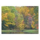 Seven Springs Fall Bridge II Autumn Landscape Tissue Paper