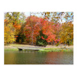 Seven Springs Fall Bridge III Autumn Landscape Postcard