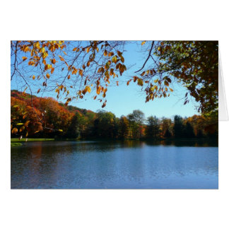 Seven Springs Fall Trees and Pond Card