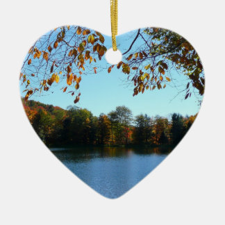 Seven Springs Fall Trees and Pond Ceramic Ornament