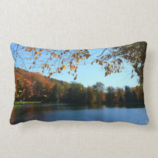 Seven Springs Fall Trees and Pond Lumbar Pillow