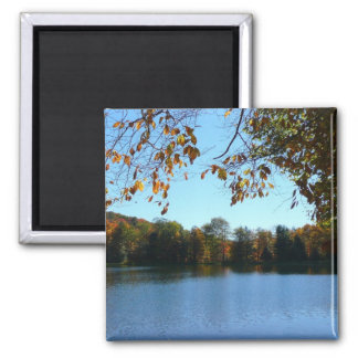 Seven Springs Fall Trees and Pond Magnet