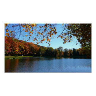 Seven Springs Fall Trees and Pond Poster