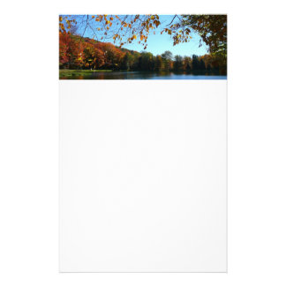 Seven Springs Fall Trees and Pond Stationery