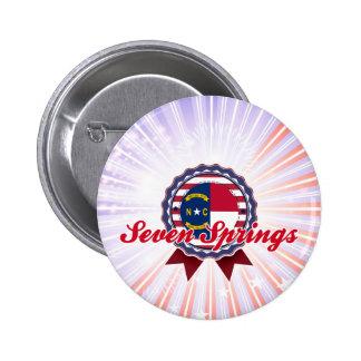 Seven Springs, NC Pinback Button