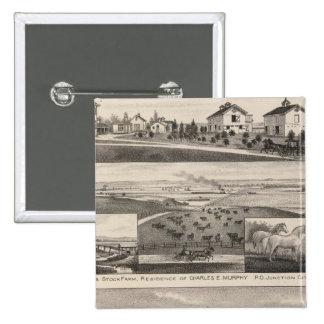 Seven Springsand Milford Stock Farms, Kansas Pinback Buttons