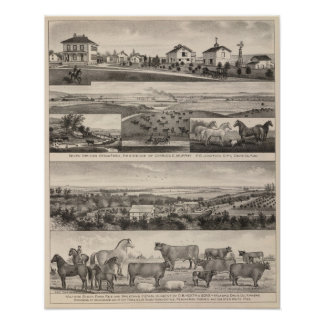 Seven Springsand Milford Stock Farms, Kansas Poster