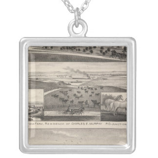 Seven Springsand Milford Stock Farms, Kansas Silver Plated Necklace