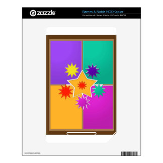 Seven STAR creative work : GREETINGS at lowprice NOOK Color Skin