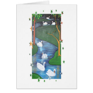 Seven Swans A-Swimming Greeting Cards
