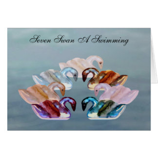 Seven Swans A Swimming Cards