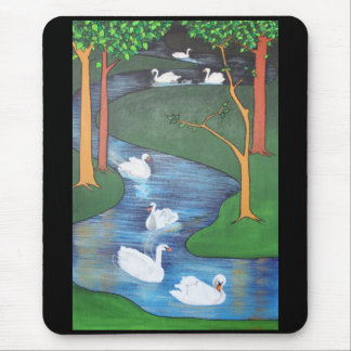 Seven Swans A-Swimming Mouse Pad