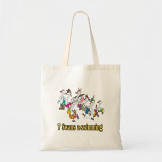 seven swans a-swimming seventh 7th day christmas tote bag