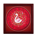Seven swans aswimming trinket boxes