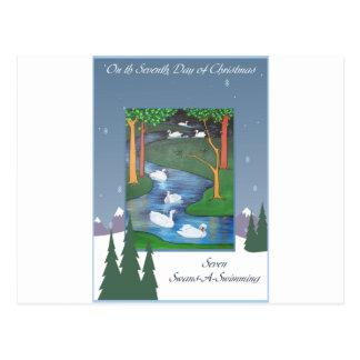 Seven Swans Postcard