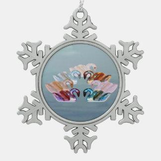 Seven Swans Swimming Ornament