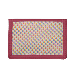 Seven Sweet Blossoms Trifold Wallet