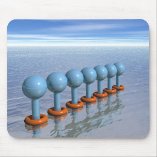 Seven Swimmers Mouse Pads