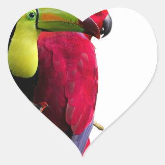 Seven Tropical Bird's Heart Sticker