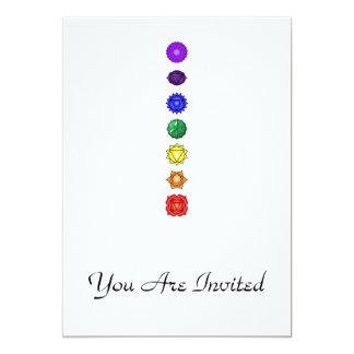 Seven vertical chakras card