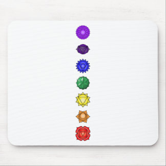 Seven vertical chakras mouse pad