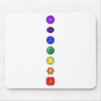 Seven vertical chakras mouse pad