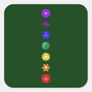 Seven vertical chakras stickers
