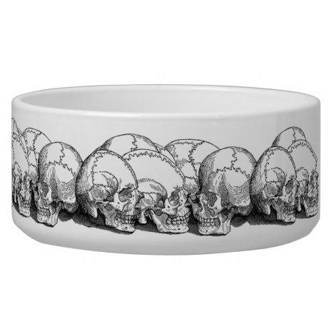 Seven Vintage Skulls Bowl