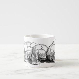 Seven Vintage Skulls Espresso Mug