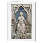 Seven Virtues:Lady Justice By Giotto Di Bondone Greeting Cards