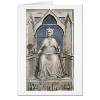 Seven Virtues:Lady Justice By Giotto Di Bondone Card