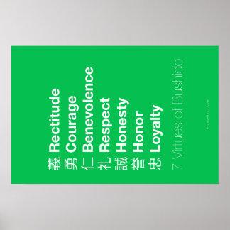 Seven Virtues of the Bushido Print