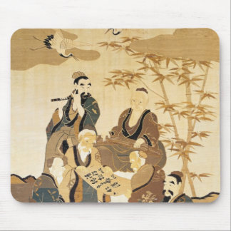 Seven wise men in the bamboo forest mouse pad