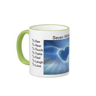 Seven Wonders Ringer Mug