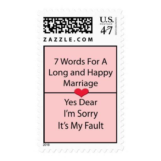 Seven Words For a Long and Happy Marriage Postage
