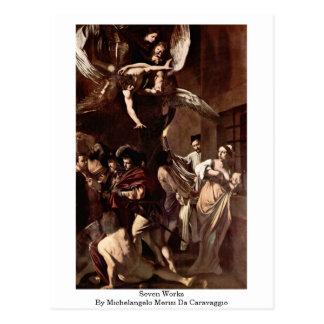 Seven Works By Michelangelo Merisi Da Caravaggio Postcard