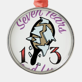Seven Years Metal Ornament